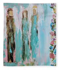 Angels In The Garden Fleece Blanket