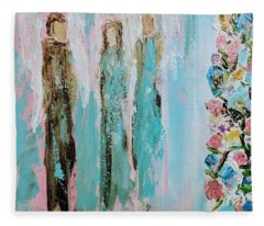 Angels In The Garden Fleece Blanket