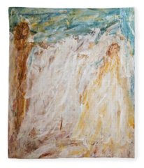 Angels Of Peace Fleece Blanket