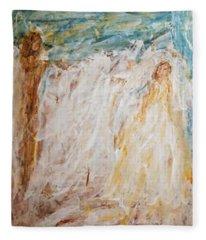 Angels Of Peace Fleece Blanket