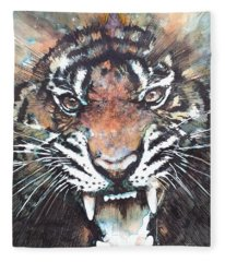 Angry Paintings Fleece Blankets