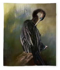 Anhinga Beauty Fleece Blanket