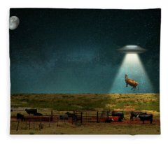 Animal - Cow - They Came For The Beef Fleece Blanket