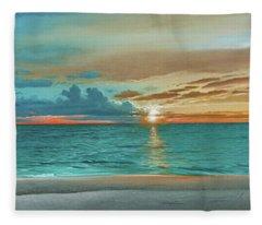Anna Maria Island Beach Fleece Blanket