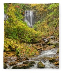 Anna Ruby Falls Stream Fleece Blanket