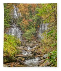 Anna Ruby Falls Vertical Fleece Blanket
