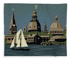 Annapolis Steeples And Cupolas Serenity Fleece Blanket