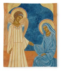 Annunciation Egg Tempera And Gold Fleece Blanket