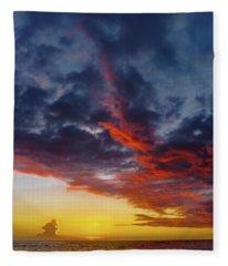 Another Colorful Sky Fleece Blanket