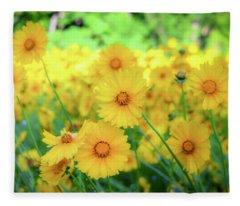 Another Glimpse, Pollinator Field Fleece Blanket