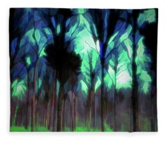 Another World - Forest Fleece Blanket