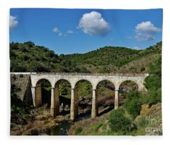 Antique Mertola's Bridge In Alentejo Fleece Blanket