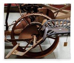 Antique Tractor Seat Fleece Blanket
