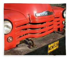 Antique Truck Red Cuba 11300502 Fleece Blanket
