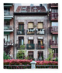 Apartments In Madrid Fleece Blanket