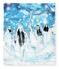 Apocalyptic End In White Fleece Blanket
