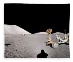 Apollo 17 Taurus-littrow Valley The Moon Fleece Blanket