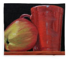 Apple And Cca Mug Fleece Blanket
