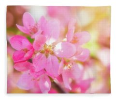 Apple Blossoms Cheerful Glow Fleece Blanket