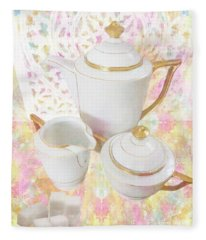 April Tea Fleece Blanket