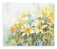 April Yellows Fleece Blanket