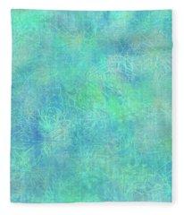 Aqua Batik Print Coordinate Fleece Blanket
