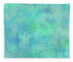 Aqua Batik Print Coordinate Fleece Blanket