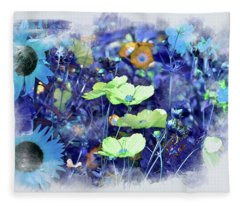 Aqua Blue Fleece Blanket