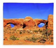 Arches Moon Eye Fleece Blanket