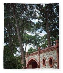 Architecture At The Gardens Of Cecilio Rodriguez In Retiro Park - Madrid, Spain Fleece Blanket
