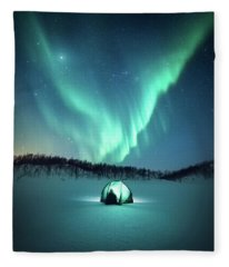 Arctic Camping Fleece Blanket