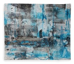 Fleece Blanket featuring the painting Arctic by 'REA' Gallery