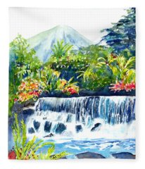 Arenal Volcano Costa Rica  Fleece Blanket