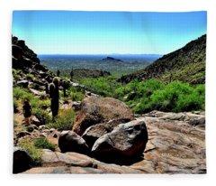 Arizona Desert Hiking Fleece Blanket