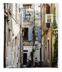 Arles Alley Fleece Blanket