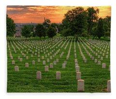 Arlington National Cemetery Sunrise Fleece Blanket
