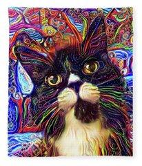 Armani The Tuxedo Cat Fleece Blanket