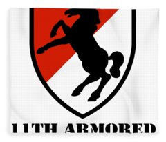 Army 11th Armored Cavalry Regiment Veteran Full Color Patriotic Fleece Blanket