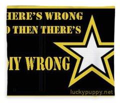 Army Wrong Fleece Blanket
