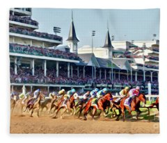 Around The First Turn Fleece Blanket