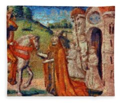 Art Medieval Fleece Blanket
