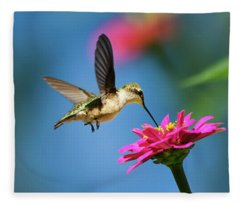 Fleece Blanket featuring the photograph Art Of Hummingbird Flight by Christina Rollo