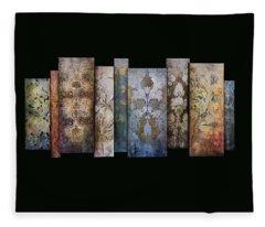 Fleece Blanket featuring the photograph Art Panels - Antique Wallpaper  by Andrea Kollo