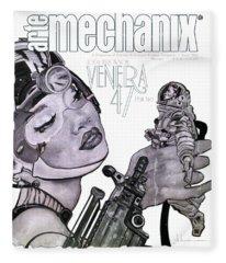 arteMECHANIX 1902 VENERA47 Pt.2 GRUNGE Fleece Blanket