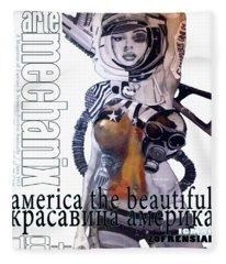 arteMECHANIX 1913 AMERICA THE BEAUTIFUL GRUNGE Fleece Blanket