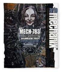 arteMECHANIX 1917 BioMECH-783 GRUNGE Fleece Blanket