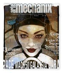 arteMECHANIX 1924 RACE MACH50 GRUNGE Fleece Blanket