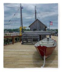 Artistic Dock Fleece Blanket