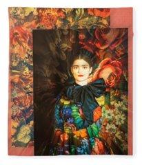 Artistic Frida Kahlo Stream  Fleece Blanket
