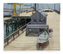 Artistic Seaport Fleece Blanket
